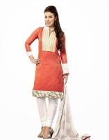Vineberi Cotton Striped Dress/Top Material - Unstitched
