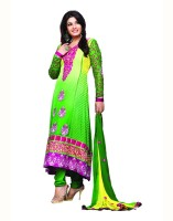 Aanara Georgette Floral Print Semi-stitched Salwar Suit Dupatta Material Fabric - Unstitched - FABDVV4NJ3G8CRMA