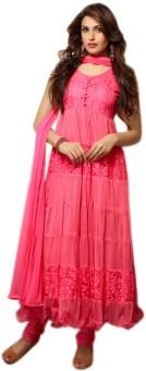 Khantil Net Printed Semi-stitched Salwar Suit Dupatta Material (Unstitched)