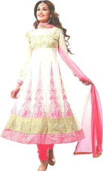 Z HOT FASHION Georgette Embroidered Salwar Suit Dupatta Material Un-stitched - FABEBFRPXZZFMSAM