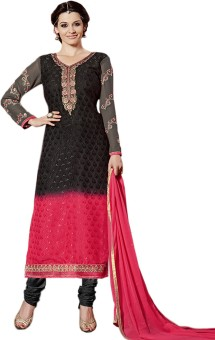 Vbuyz Brasso Embroidered Semi-stitched Salwar Suit Dupatta Material Semi-stitched