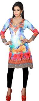 Aakriti Sarees Chiffon Printed Kurti Fabric Un-stitched