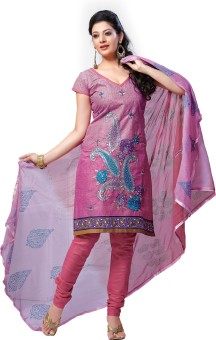Hiva Cotton Solid Semi-stitched Salwar Suit Dupatta Material (Unstitched)