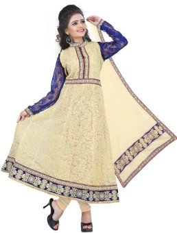 Loot Lo Creation Lace, Net, Georgette Embroidered Semi-stitched Salwar Suit Dupatta Material