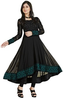 RRP Georgette, Chiffon Embroidered Semi-stitched Salwar Suit Dupatta Material