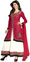 Dhanufashion Georgette Solid Semi-stitched Salwar Suit Dupatta Material - Unstitched - FABEY7H29EGZATC5