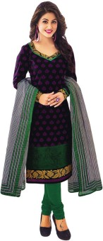 Salwar Studio Cotton Floral Print, Striped, Printed Salwar Suit Dupatta Material Un-stitched