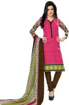 J K CREATION Cotton Printed Salwar Suit Dupatta Material Un-stitched