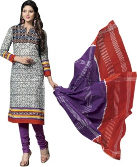 Shyle Cotton Printed Salwar Suit Dupatta Material Unstitched - FABE9KP4GECYPTYS