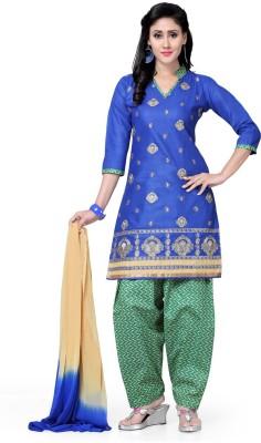 Saree Swarg Cotton Embroidered Salwar Suit Dupatta Material