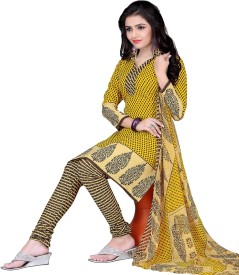 Fabliva Crepe Printed Salwar Suit Material