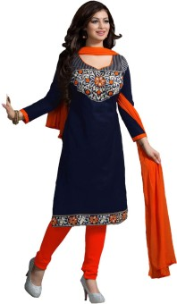 King Sales Cotton Embroidered Salwar Suit Dupatta Material Unstitched
