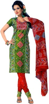 Buy Clues Cotton Printed Salwar Suit Dupatta Material Unstitched