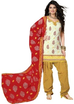 Nirali Fashion 8a.. Cotton Printed Semi-stitched Salwar Suit Dupatta Material Semi-stitched