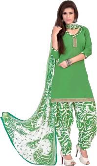 Ethnic For You Cotton Self Design Salwar Suit Dupatta Material Un-stitched