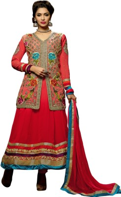 Fashion Priya Fashion Georgette Self Design Salwar Suit Dupatta Material (Multicolor)