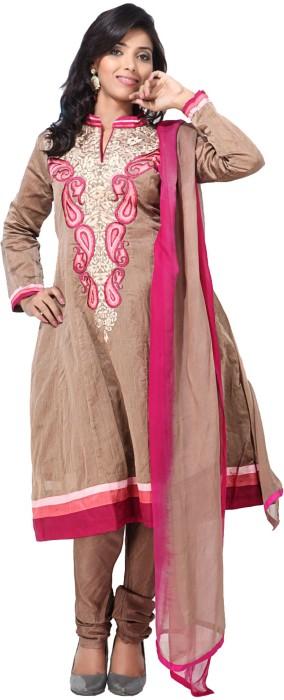 Aapno Rajasthan Cotton, Silk Printed Semi-stitched Salwar Suit Dupatta Material Fabric - Unstitched - FABDU845H8FZGUKD
