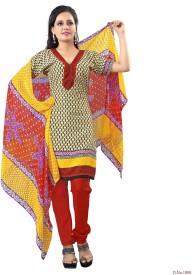 Vibes Crepe Printed Salwar Suit Dupatta Material