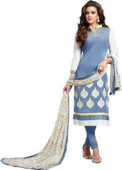 AccuStyle Cotton Printed Semi-stitched Salwar Suit Material Semi-stitched