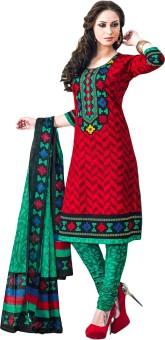 Jevi Prints Cotton Printed Salwar Suit Dupatta Material Un-stitched