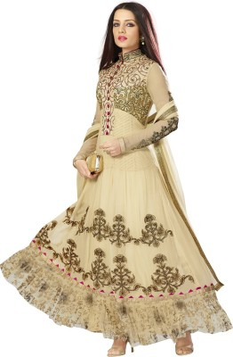 Vasu Saree Net Embroidered Semi stitched Salwar Suit Dupatta Material available at Flipkart for Rs.4905