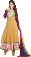 Rati Fashions Georgette Solid Salwar Material Fabric Unstitched