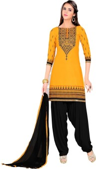 Vbuyz Cotton Embroidered Semi-stitched Salwar Suit Dupatta Material Semi-stitched - FABEGQZ3XHZWEVKW