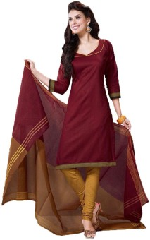 Party Wear Dresses Cotton Printed Semi-stitched Salwar Suit Dupatta Material Semi-stitched