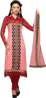 Shop Plaza Cotton, Silk Embroidered Semi-stitched Salwar Suit Dupatta Material