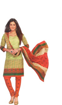 Women Shoppee Cotton Printed Salwar Suit Dupatta Material Un-stitched