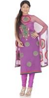 Chhabra555 Nylon Printed Salwar Material Fabric Unstitched