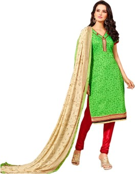Z HOT FASHION Chanderi Embroidered Salwar Suit Dupatta Material Un-stitched - FABEE2FHASACJEWS