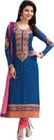 Triveni Georgette Self Design Dress/Top Material - Unstitched