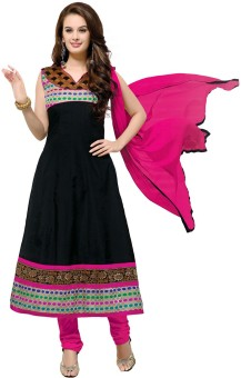 Fabdeal Cotton Solid Semi-stitched Salwar Suit Dupatta Material Unstitched