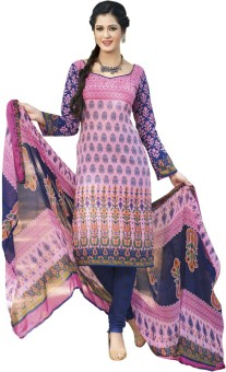 Aanyaa Cotton Floral Print Dress/Top Material Unstitched