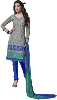 Lineysha Chanderi, Satin, Chiffon Self Design Salwar Suit Dupatta Material (Unstitched) - FABE2GVYFZKBTWU6