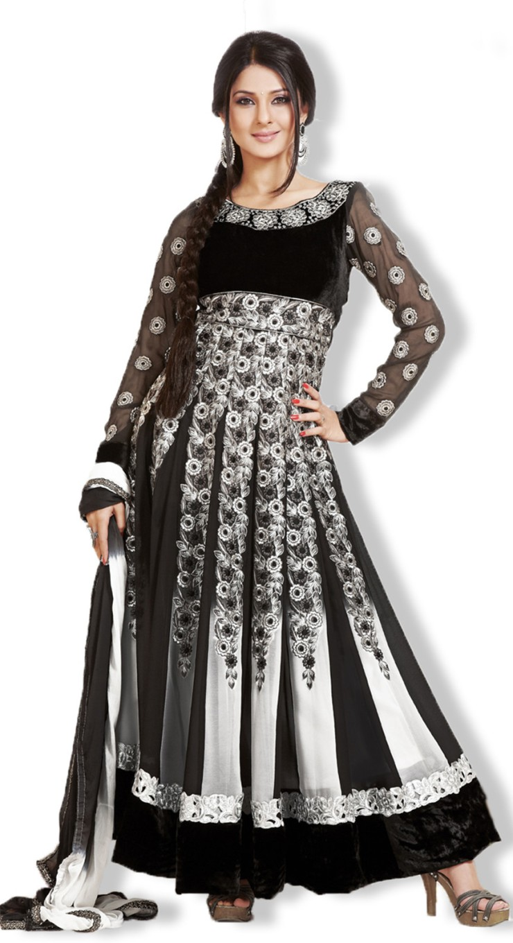 ec1f61b780 Jennifer Winget Fabfiza Georgette Self Design Semi-stitched Salwar ...