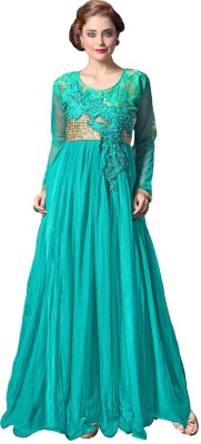 Saree Exotica Net Embroidered Semi stitched Gown available at Flipkart for Rs.1895