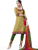 Adaa Chiffon Printed Salwar Material Fabric Unstitched