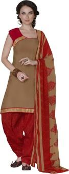 Vastrangam Cotton Printed Semi-stitched Salwar Suit Dupatta Material Semi-stitched