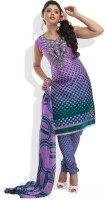 Shah Wah Synthetic Printed Salwar Material Fabric Unstitched