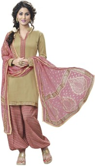 Vastrangam Satin, Cotton Printed Semi-stitched Salwar Suit Dupatta Material Semi-stitched