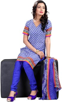 Vastrangam Crepe Printed Semi-stitched Salwar Suit Dupatta Material Semi-stitched - FABEASSVJCFMYYV2