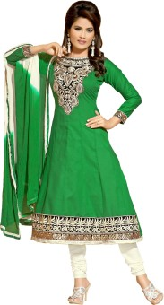 Awesome Cotton Self Design Semistitched Salwar Suit Dupatta Material