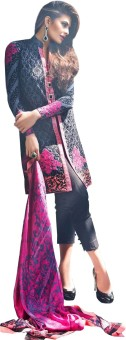 Amrozia Cotton Silk Blend Embroidered, Printed Salwar Suit Dupatta Material Un-stitched