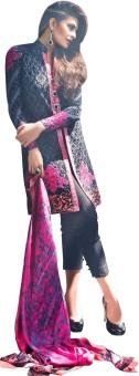 Amrozia Cotton Silk Blend Embroidered, Printed Salwar Suit Dupatta Material Un-stitched