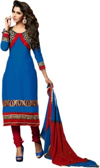Zohraa Cotton Solid Semi-stitched Salwar Suit Dupatta Material Unstitched