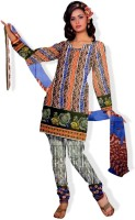 Triveni Cotton Printed Dress/Top Material Fabric Unstitched