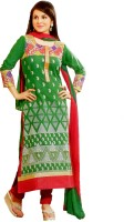 Talrejas Cotton Printed Semi-stitched Salwar Suit Dupatta Material - Unstitched