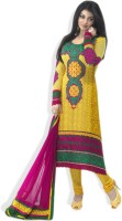 Triveni Synthetic Printed Dress/Top Material Fabric Unstitched
